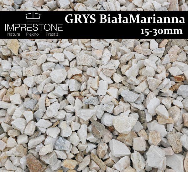 Grys Biała-Marianna 15-30mm Grysy Dekoracyjne