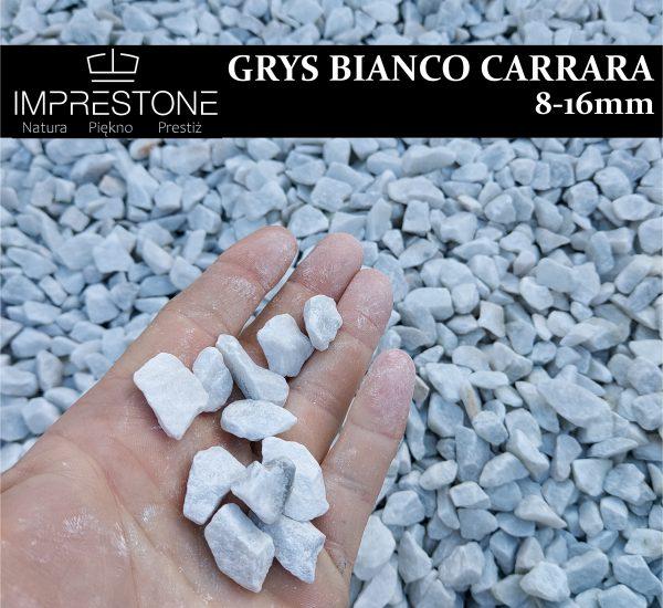 GRYS BIANCO CARRARA 8-16mm Grysy Dekoracyjne