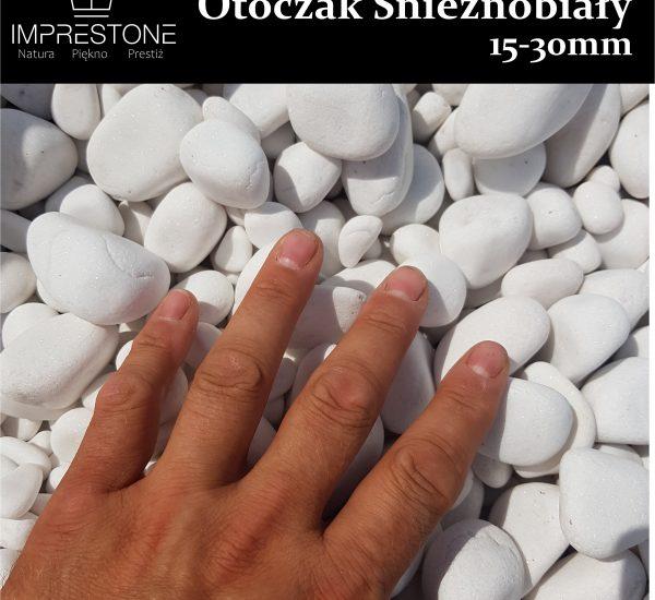Otoczak Śnieżnobiały 30-50mm Kamień Otoczony