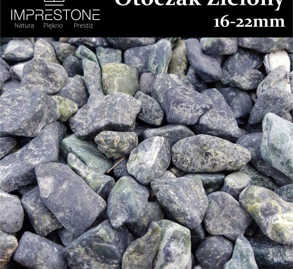 Otoczak Zielony 16-22mm Kamień otoczony